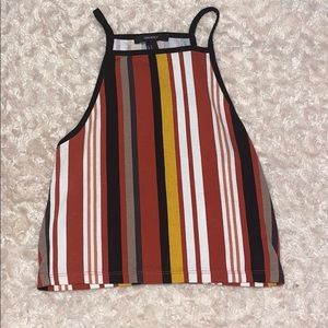 90's inspired striped crop top